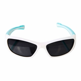 Flexible Kids Sports sunglasses - Polarized Glasses for Junior Boys, Girls - White/Turquoise