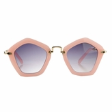Hailey's Little Girl's Pink Pentagon Frame UV400 Sunglasses