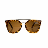 Susie's Little Girl Gold Bar UV400 Sunglasses - Leopard Print