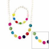 Suri's Little Girl Faux Pearl and Colorful Wooden Bead Jewelry Set