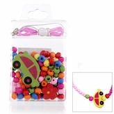 Little Girl DIY Necklace Craft Kit - Car