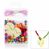 Little Girl DIY Necklace Craft Kit - Heart