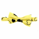 Little Boy Adjustable Pre-tied Yellow Heart Bow Tie