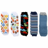 Gunnar's Boy Legging Set of 5 - Dinosaurs, Chevron, Guitars, Owls