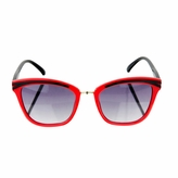 Kids UV400 Sunglasses - Red and Black Cat Eye Frames  (ages 5+)