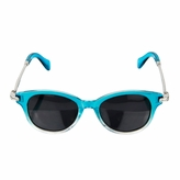 Polarized Glasses for Junior Boys, Girls - Aqua/Silver Retro Style (ages 3+)