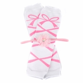 Gracie's White Ballerina Baby Girl Leggings and Headband Gift Set