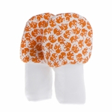No Scratch Baby Mittens Orange Elephants 0-6m