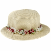 Baby Sun Hat: Zoey's Straw Floral Baby Fashion Hat