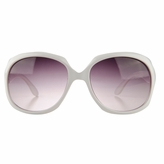 Adele's Toddler Girl White Square Frame Fashion UV400 Sunglasses