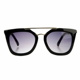 Susie's Little Girl Gold Bar UV400 Sunglasses - Black