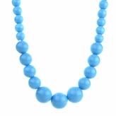 Little Girl Blue Acrylic Bead Necklace