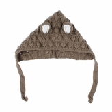 Brown Mouse Beanie - Baby Girl Boy Toddler (Small)