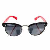 Polarized Kids sunglasses - Clubmaster style frames Red/Black (ages 5+)