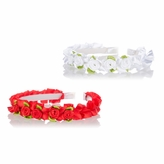 Flower Girl Rose Headband Set - White and Red - Final Sale
