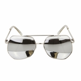 Kids UV400 Aviator Style Sunglasses - Silver Metal Frames - (ages 5+)