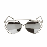 Kids UV400 Aviator Style Sunglasses with Silver Metal Frames - (ages 5+)