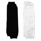 Baby Leg Warmers Solid Colors Set of 2 - Black and White