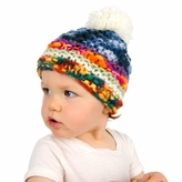 Multicolor Pom Pom Beanie - Boy Girl Toddler Kid (Medium)