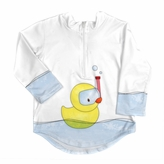 Toddler Rashguard Protective Sun and Swim Top - Rubber Ducky UPF 50+ (2T)