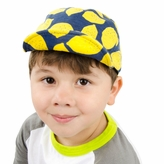 Little Boy Blue Lemon Print Baseball Hat with Adjustable Velcro
