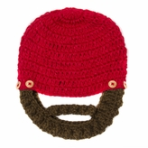 *SOLD OUT*Red Beanie with Beard - Boy Girl Toddler Kid (Large)