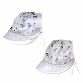 Harold's Baby Boy Sun Hat With Visor Set of 2 Brown and Blue