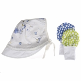 *SOLD OUT*Harlan's Baby Boy Sun Hat With Visor and Mitten Set