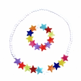 Little Girl Colorful Star Jewelry Set - Necklace and Bracelet