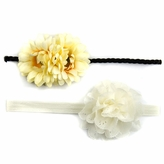 Celine's Yellow Mommy & Me Matching Flower Headband Set