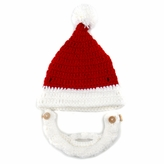 Santa Beanie with Beard - Boy Girl Toddler Kid (Large)