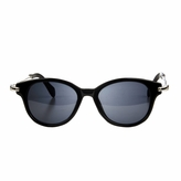 Polarized Black and Silver Retro Toddler Sunglasses