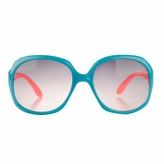 Adele's Toddler Girl Blue/Pink Square Frame Fashion UV400 Sunglasses