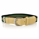 Kids' Striped Adjustable Elastic Belt - Green