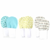 Stay On Baby Mittens Set of 3 (0-6m) - Elephants, Trains, & Gingham