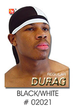BT Regular Durag Two-Tone Black/White