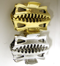 Gold / Silver Large Jaw Clip