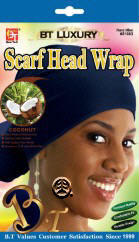 BT COCONUT Luxury FASHION SCARF HEAD WRAP NAVY BLUE