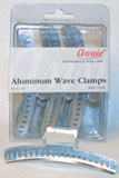 Annie Aluminum Wave Clamps 12ct 4""