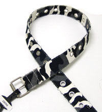 Army Camouflage BlackWhite Mix Belt