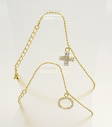 Anklet Gold with Dangling Charm