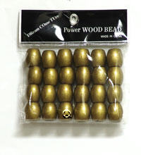 Wooden Bead Large Gold