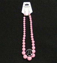 Necklace Earring Set Pink
