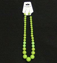 Necklace Earring Set Green