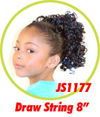 Beauti Collection Synthetic Kids Drawstring Ponytail JS1177
