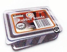 BT 500 PCS RUBBER BAND in Container DARK BROWN