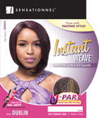 Sensationnel Instant Weave U Part Hand-Tied Lace Parting Wig