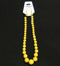 Necklace Earring Set Yellow