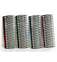 """Large 4"""" Metal Comb with Stone"""