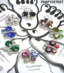 Assorted Crystals Butterfly Toe Rings